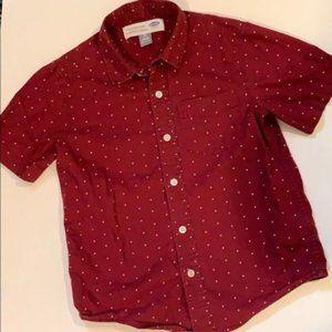 Old Navy Boys Short Sleeve Dot Print Button Shirt